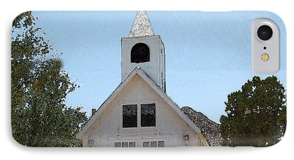Little White Church IPhone Case by Walter Chamberlain