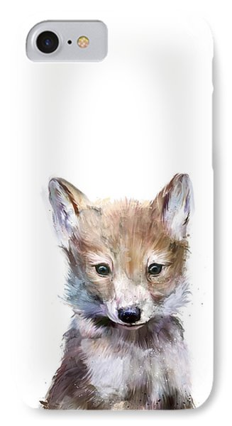 Little Wolf IPhone Case by Amy Hamilton