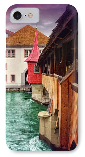 Little Wooden Bridge In Lucerne Switzerland  IPhone Case