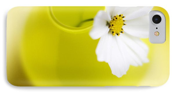 Flowers iPhone 7 Case - Little Yellow Vase by Rebecca Cozart