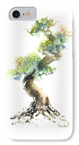 IPhone Case featuring the painting Little Zen Tree 1692 by Sean Seal