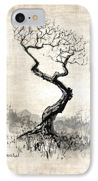 IPhone Case featuring the painting Little Zen Tree 1820 by Sean Seal