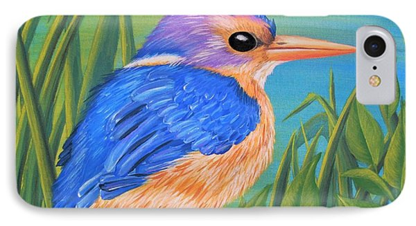 IPhone Case featuring the painting Litttle King Of The Fishers by Sophia Schmierer