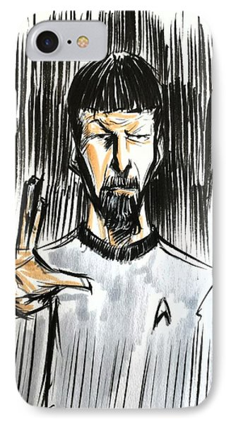 IPhone Case featuring the drawing Live Long And Prosper...... by Tu-Kwon Thomas