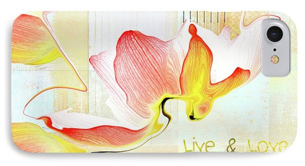 IPhone Case featuring the photograph Live N Love - Absf44b by Variance Collections
