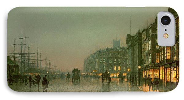 Street iPhone 7 Case - Liverpool Docks From Wapping by John Atkinson Grimshaw