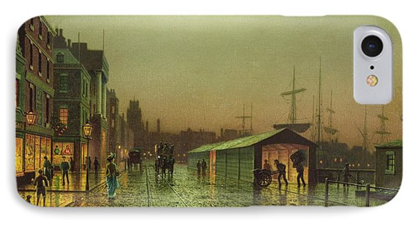 Liverpool Docks IPhone Case by John Atkinson Grimshaw
