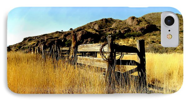 Livery Fence At Dripping Springs Phone Case by Kurt Van Wagner