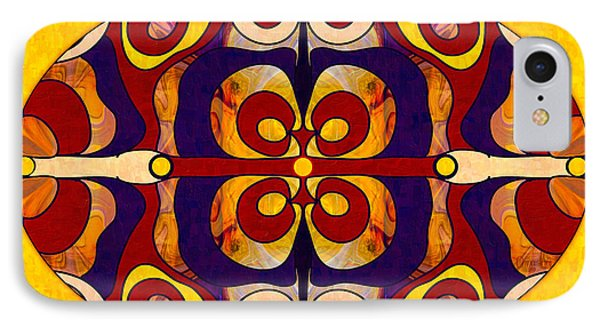 Living In A Mandala Abstract Bliss Art By Omashte IPhone Case