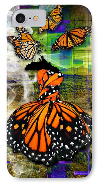 IPhone Case featuring the mixed media Living One's Destiny by Marvin Blaine