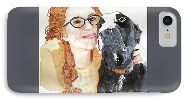 Livvy And Amos IPhone Case by Sandy McIntire
