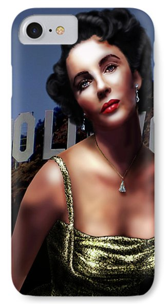 Liz Taylor Phone Case by Virginia Palomeque