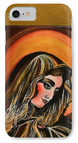 IPhone Case featuring the painting lLady of sorrows by Sandro Ramani
