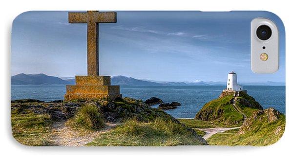 Llanddwyn Cross IPhone Case by Adrian Evans