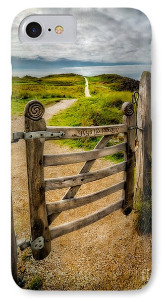 Llanddwyn Island Gate IPhone Case by Adrian Evans