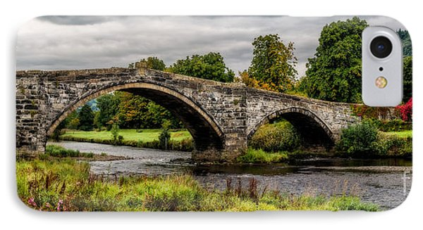 Llanrwst Bridge Panorama IPhone Case by Adrian Evans