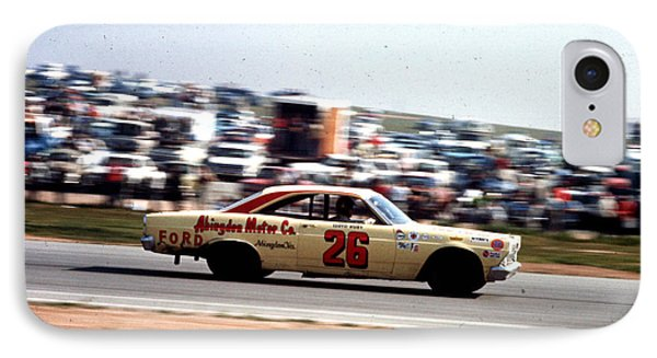 Lloyd Ruby # 26 Ford Fairlane 1967 At Riverside IPhone Case by David Bryant