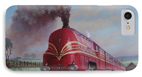 IPhone Case featuring the painting Lms Stanier Pacific by Mike  Jeffries