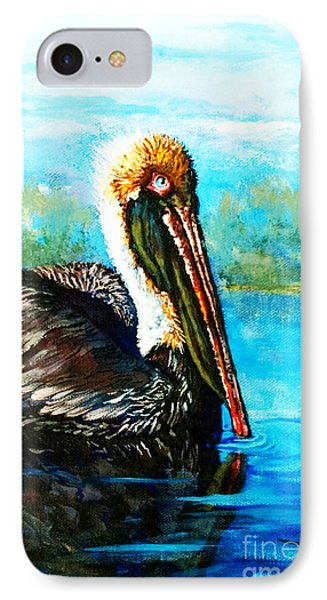 IPhone Case featuring the painting L'observateur by Dianne Parks