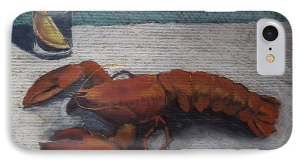 Lobster  IPhone Case by Becky Chappell