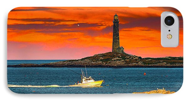 Lobster Boat Cape Cod IPhone Case by Randall Branham