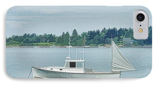 Lobster Boat Harpswell Maine IPhone Case by Patrick Fennell