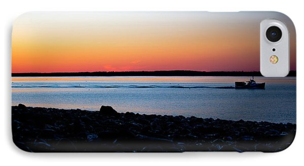 Lobster Boat In Maine IPhone Case by Diane Diederich