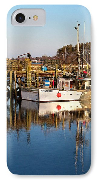 Lobster Boat Reflections IPhone Case