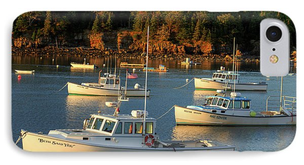 IPhone Case featuring the photograph Lobster Boats At Bar Harbor Me  by Emmanuel Panagiotakis