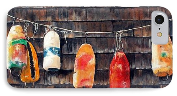 Lobster Buoys, Nova Scotia IPhone Case by Anna-maria Dickinson