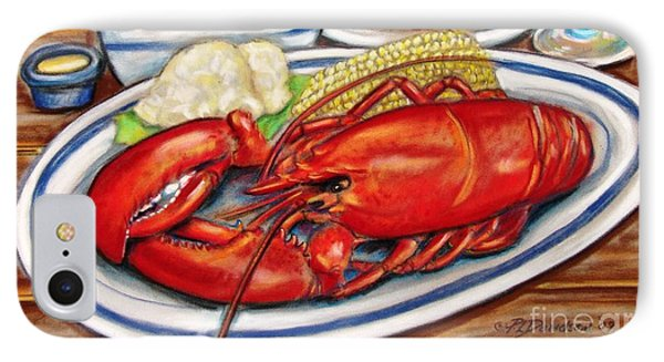 Lobster Dinner IPhone Case by Patricia L Davidson
