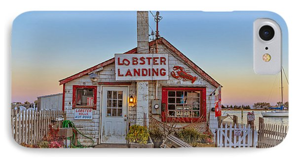 IPhone Case featuring the photograph Lobster Landing Sunset by Edward Fielding