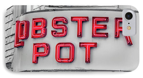 Lobster Pot Neon Provincetown Cape Cod IPhone Case by Edward Fielding