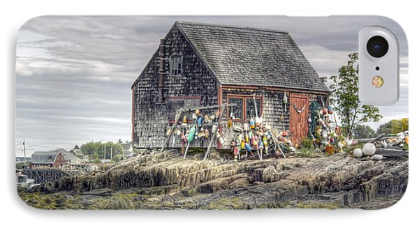 IPhone Case featuring the photograph Lobsterman's Shack Of Mackerel Cove by Richard Bean
