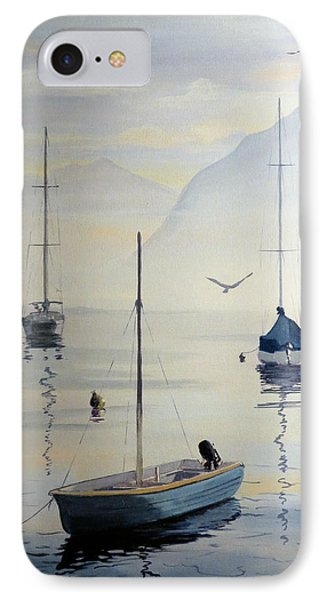Locarno Boats In February IPhone Case by David Gilmore