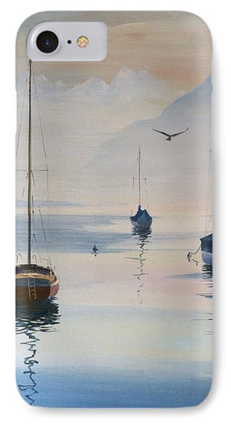 Locarno Boats In February-2 IPhone Case by David Gilmore