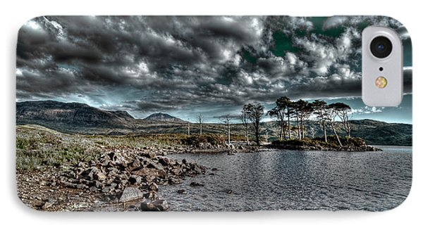 IPhone Case featuring the photograph Loch In The Scottish Highland by Gabor Pozsgai
