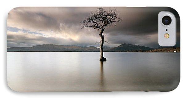Loch Lomond Lone Tree IPhone Case by Grant Glendinning