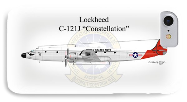 IPhone Case featuring the digital art Lockheed C-121j Constellation by Arthur Eggers