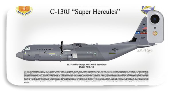 IPhone Case featuring the digital art Lockheed Martin C-130j-30 Super Hercules by Arthur Eggers