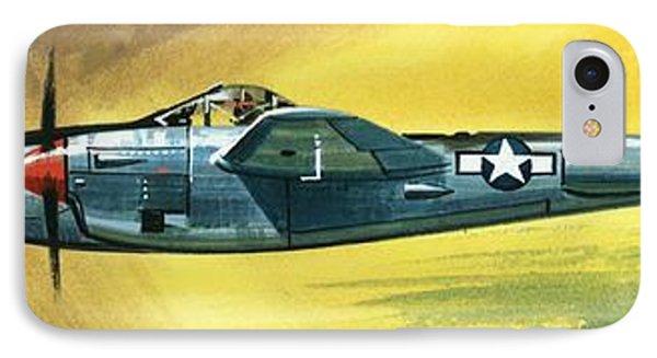Airplane iPhone 7 Case - Lockheed P-38j Lightning by Wilf Hardy