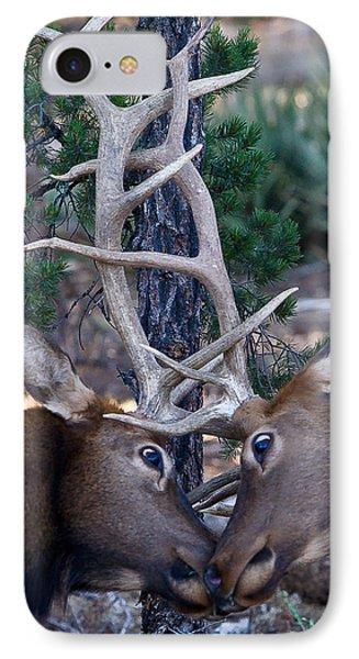 Locking Horns - Well Antlers IPhone Case by Rikk Flohr