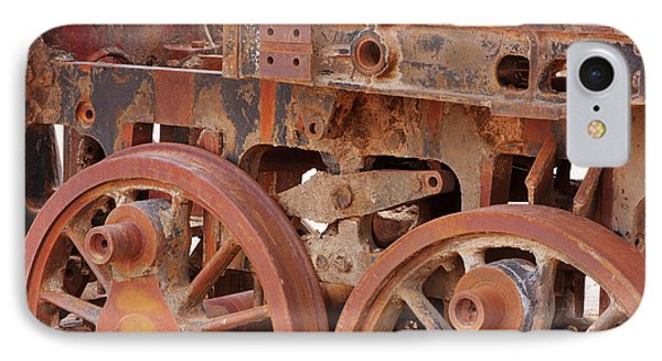 IPhone Case featuring the photograph Locomotive In The Desert by Aidan Moran