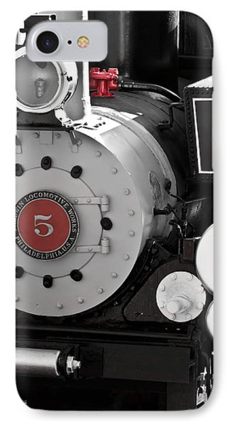 Locomotive Number Five IPhone Case by Colleen Coccia