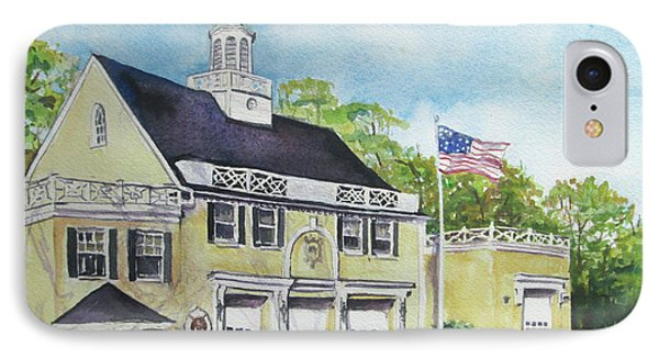 Locust Valley Firehouse IPhone Case by Susan Herbst