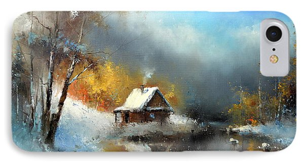 Lodge In The Winter Forest IPhone Case by Igor Medvedev