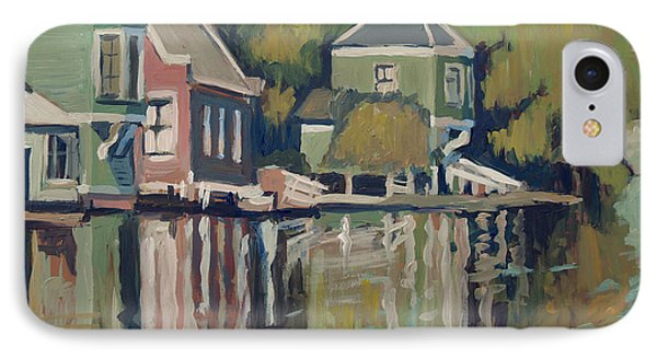 Lofts Along The River Zaan In Zaandam IPhone Case by Nop Briex