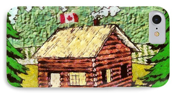 Log Cabin In The Canadian Woods IPhone Case by Mario Carini