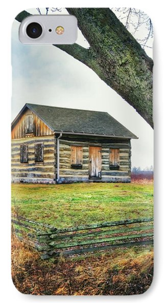 IPhone Case featuring the photograph Log Cabin - Paradise Springs - Kettle Moraine State Forest by Jennifer Rondinelli Reilly - Fine Art Photography