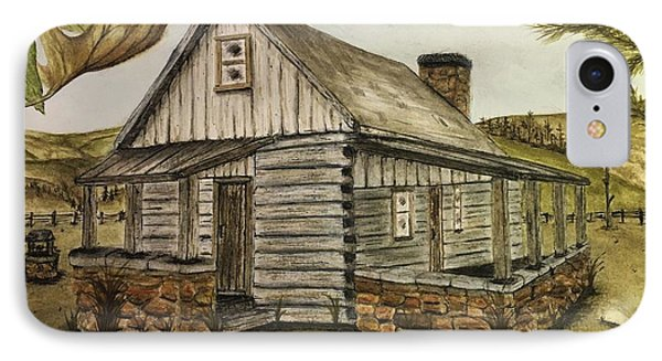 Log Cabin IPhone Case by Ted Reeves
